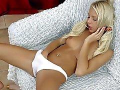 Fresh blond girl Grace c in white panties