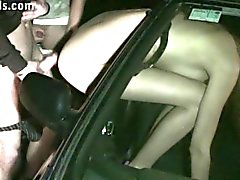 Kitty Jane PUBLIC gangbang by strangers through car window