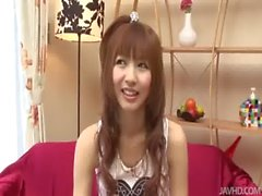 Naughty Kotone Aisaki Purrs as Her Nipples are Licked