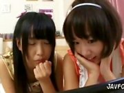 Three Young Japanese Sister Lesbians 1