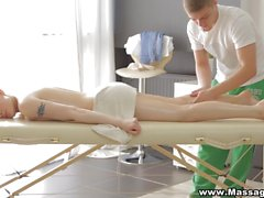 Massage X - Sex on a folding massage table