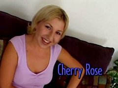 Horny blonde Cherry Rose takes it in all holes
