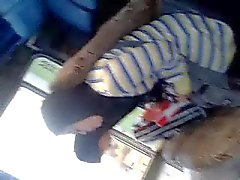 egyption hijab relax in bus