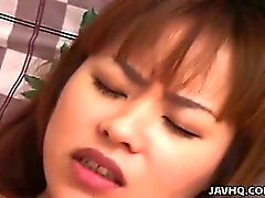 Lovely Japanese teen with big boobs fucked at home