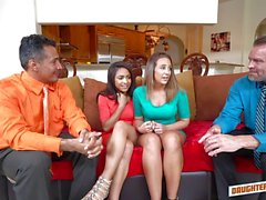 Daddy swapping fun with Nicole Bexley and Layla London