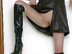 Girl insistent muff rubbing is driving her crazy