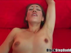 Young Asian Slut sucks a black cock