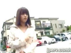 Kinky Japanese teen loves to flash her beautiful young body
