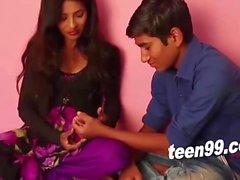Teen indian girl influencing an innocent boy