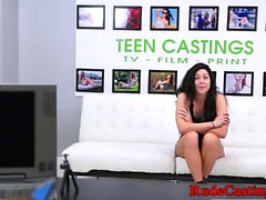 Brutal casting audition for tattooed teen