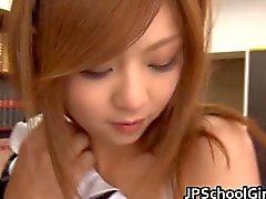 Aya Hasegawa wears maid uniform