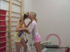 Lesbians and gym.