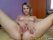 Busty Blonde Hottie Plays her Tight Pussy