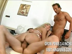 Young Blonde Take Double Penetration