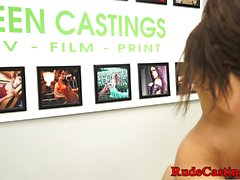 Real teen fucked hard at casting audition