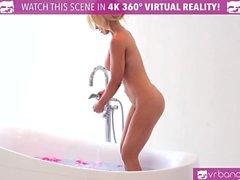 VR Bangers - HOT BLONDE Alix Lynx masturbates