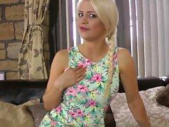 Blonde teen blows pervert