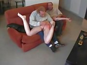 Dad & Friend Spank Pretty Daughter xLx