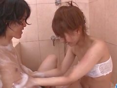 Nasty shower porn experience with Tiara Ayase