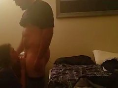 Young Half Mexican White Girl Fucked in a Purple Dress pt 1