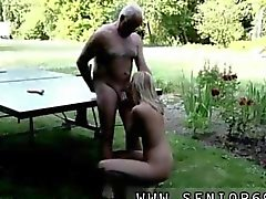 Old man sucked off by a blonde slut