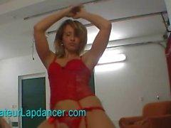 Czech blonde with hot ass lapdances