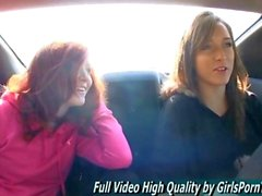 Elle and Malena make out in the car