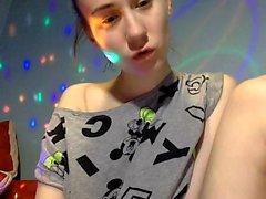 Very Hot Amateur Teen being horny on Webcam