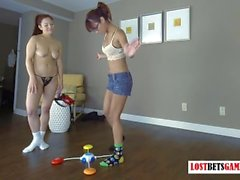 Two Stunning Teens Play a Strip Memory Game, Loser gets Punished