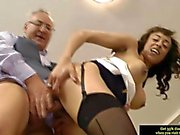 young brit slut fucking a horny old man