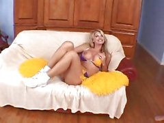 Horny cheerleader Vicky Vette is stuffed with a big nob