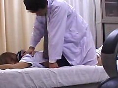 Beautiful schoolgirl has a kinky doctor deeply banging her