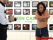 Real teen doggystyled at brutal casting