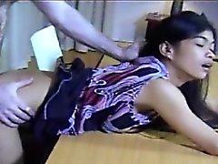 Filipino Amateur Helen Bent Over Desk Fucked Hard And Spank