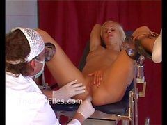 Young blonde slaves medical humiliation and doctor