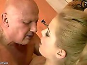 Old dude gets his ass licked by his teen lover