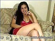Mexican First Timer Suzanna Shows Off Her Beautiful Body On The Casting Couch As She Plays