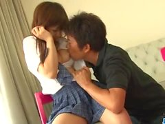 Amazing porn play with teen doll Miku Airi