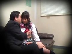 Ai Nikaidou Asian teen in cosplay school uniform