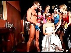Girls at Czech Hen Party go out of control with a CFNM