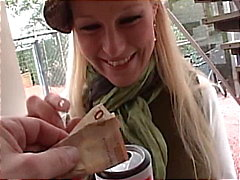 German amateur blondie sucks and fucks a hard cock