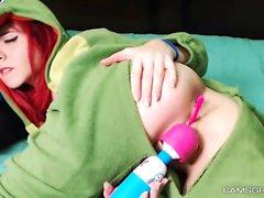 Masturbating Redhead Teen Uses Sex Toys
