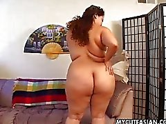 BBW Asian amateur shows her cock skills