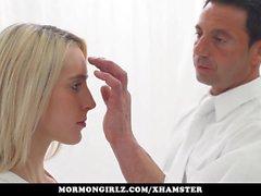 Mormongirlz - Young blonde babe rides a big dick