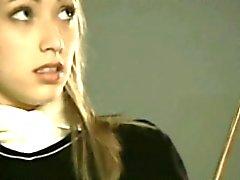 Stunning 18yo Blonde Schoolgirl Spanked - FreeFetishTVcom