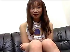 Teen Japanese cutie pussy rubbed at a porn movie casting