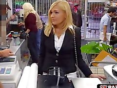 Blonde MILF fucks for a good pawnshop deal