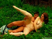 Hot redhead teen gets banged in the forest