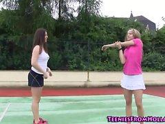 Tennis teens cunt licking