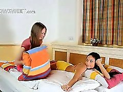 Cute unbelievable schoolgirl lesbians